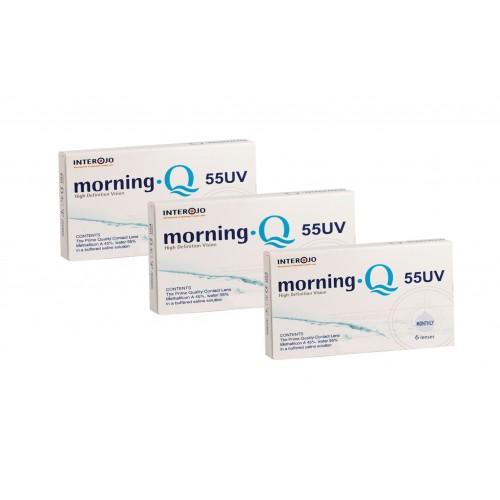 Месячные контактные линзы Morning Q 55 UV INTEROJO упаковка - Фото №1