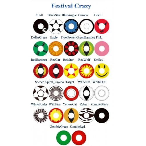 Цветные контактные линзы Adria Festival CRAZY INTEROJO - Фото №1