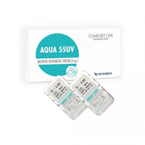 Месячные контактные линзы Aqua 55UV Comfort Line - Фото №1