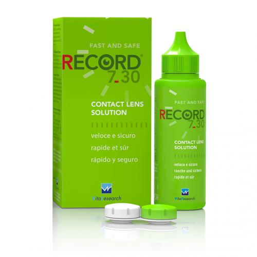 Раствор для контактных линз Record 7.30 Vita Research - Фото №1