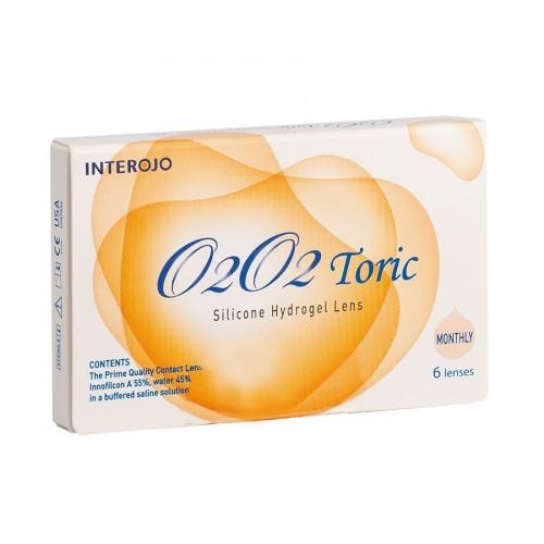 Месячные торические контактные линзы O2O2 toric INTEROJO
